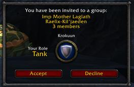 wow addon Improved LFG Invite Dialog