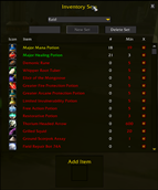 wow addon InventorySets