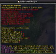 Lorewalkers Helper