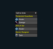 wow addon Militant Call to Arms
