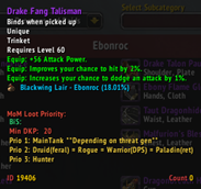 wow addon MoM Loot Priority Classic