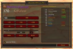 wow addon MonolithDKP EasyBid