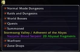 wow addon Mount Drop List