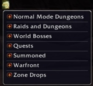 Mount Drop List