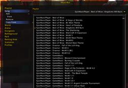 wow addon MusicBox GameMusic EMP