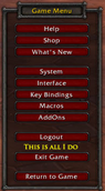 wow addon Never Exit