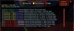 wow addon Nova Instance Tracker
