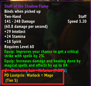 Perfect Dominance loot prio tooltip