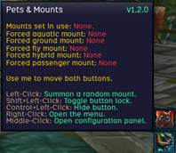 wow addon Pets and Mounts