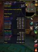 wow addon Played Time Minimap Clock
