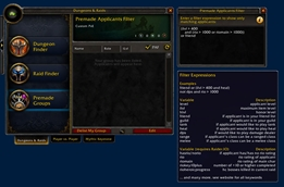 wow addon Premade Applicants Filter