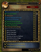 wow addon Quest Completist
