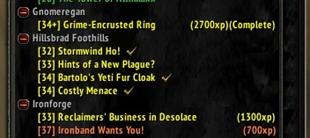 wow addon Quest XP Tracker