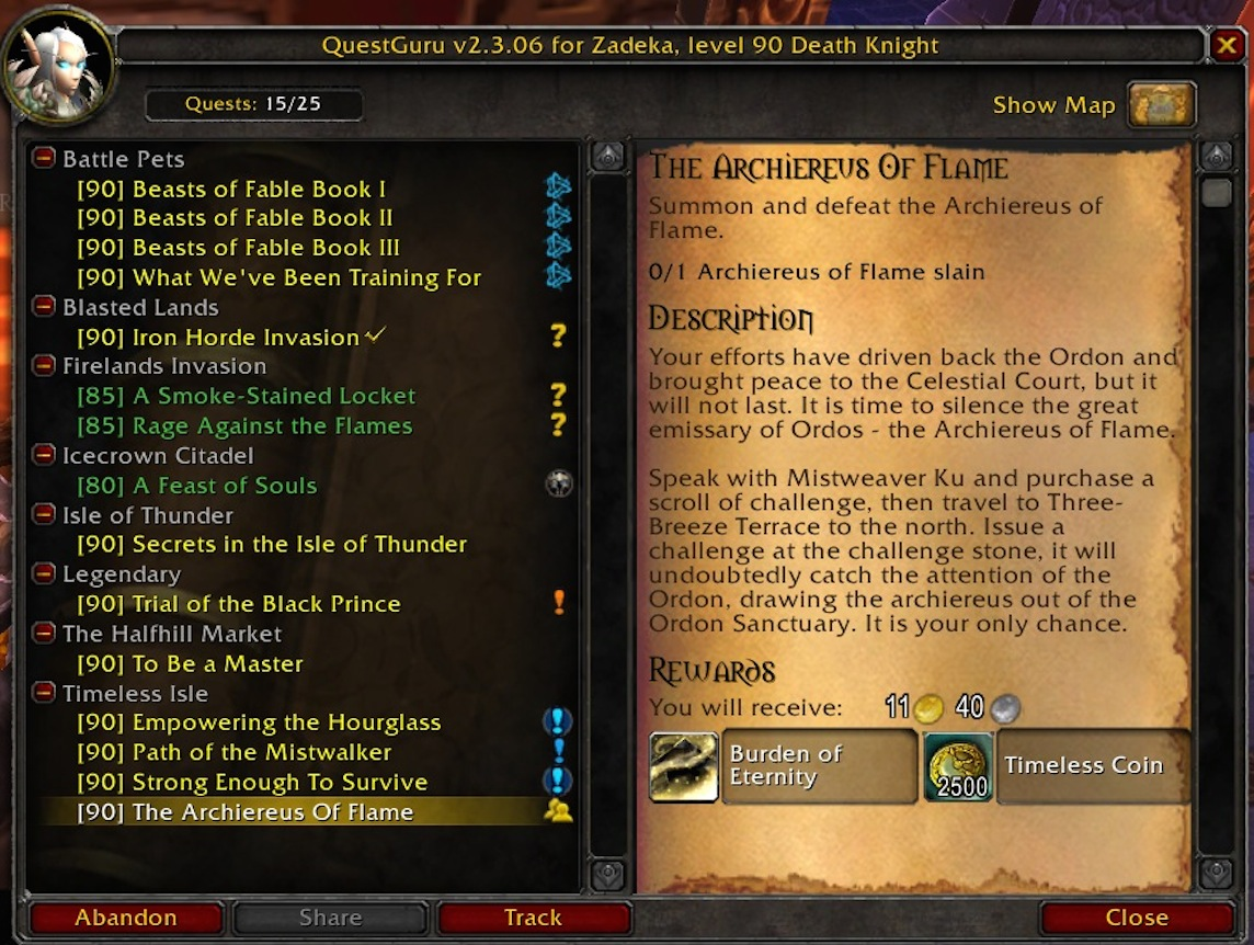 wow quest addon