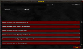 wow addon Reminders
