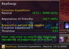 wow addon RepSwap