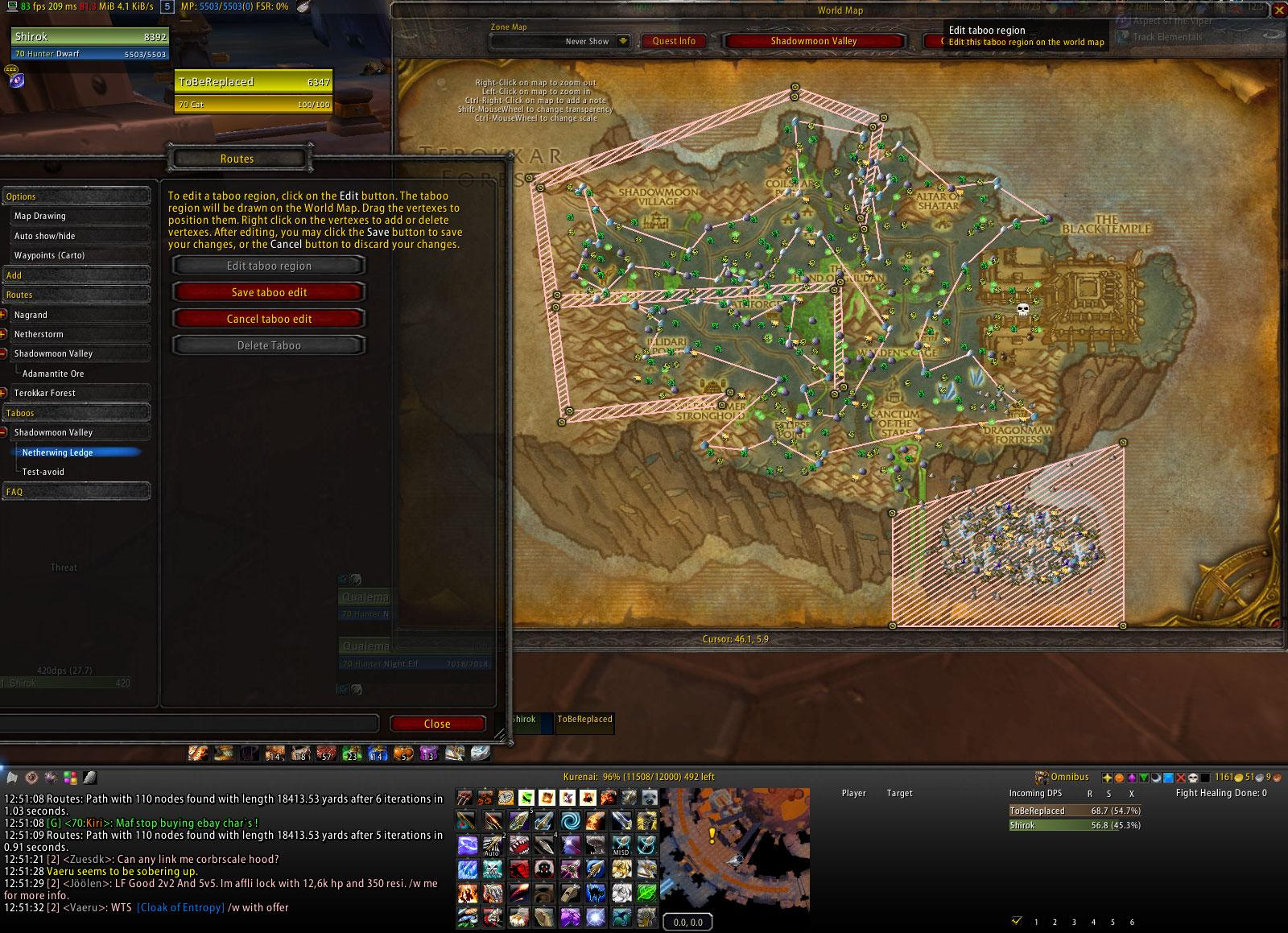 WoW Routes addon bfa/classic 2019
