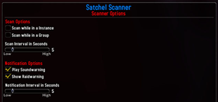 Satchel Scanner