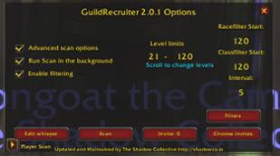 wow addon SC Guild Recruiter