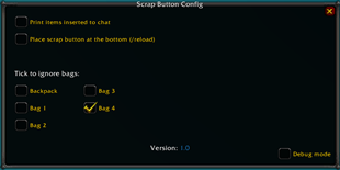 wow addon ScrapButton