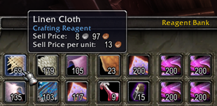wow addon Sell Price per unit