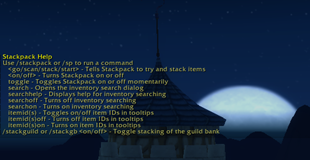 wow addon Stackpack
