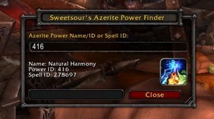 Sweetsour\'s Azerite Power Finder
