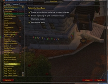 wow addon Talent Action Bars