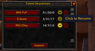 Talent Sequence