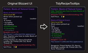 Tidy Recipe Tooltip