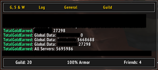 wow addon Total Gold Earned