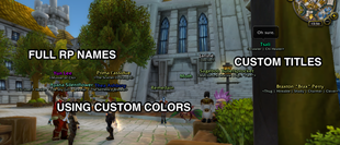 wow addon Total RP 3: KuiNameplates module