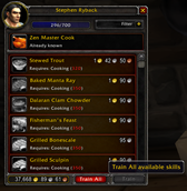 wow addon Train All