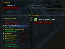 wow addon Turninator
