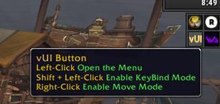 wow addon vUI Minimap Button