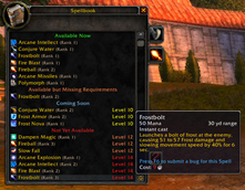 wow addon What's Training?