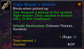 wow addon Whistle Master