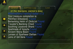 wow addon Withered Army Treasure Tracker