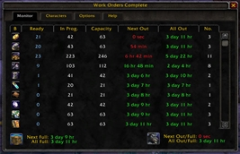 wow addon Work Orders Complete