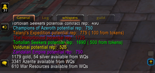 wow addon World Quest Report
