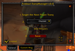 X Tranq Manager