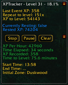 wow addon XPTracking – Retail